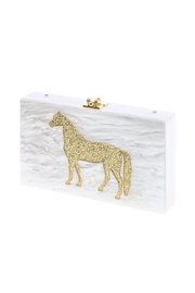 Miss Scarlett Boutique Lucite Horse Clutch - Product Mini Image