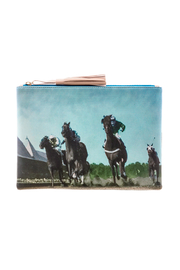 Miss Scarlett Boutique Vintage Horse Clutch - Front full body