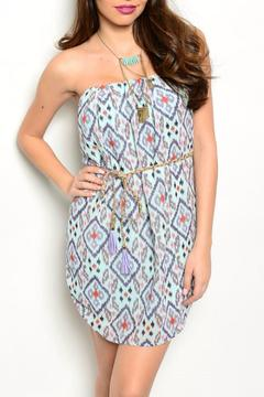 Shoptiques Product: Blue Aztec Dress