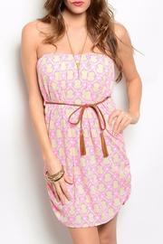 miss avenue  Pink Pattern Dress - Product Mini Image