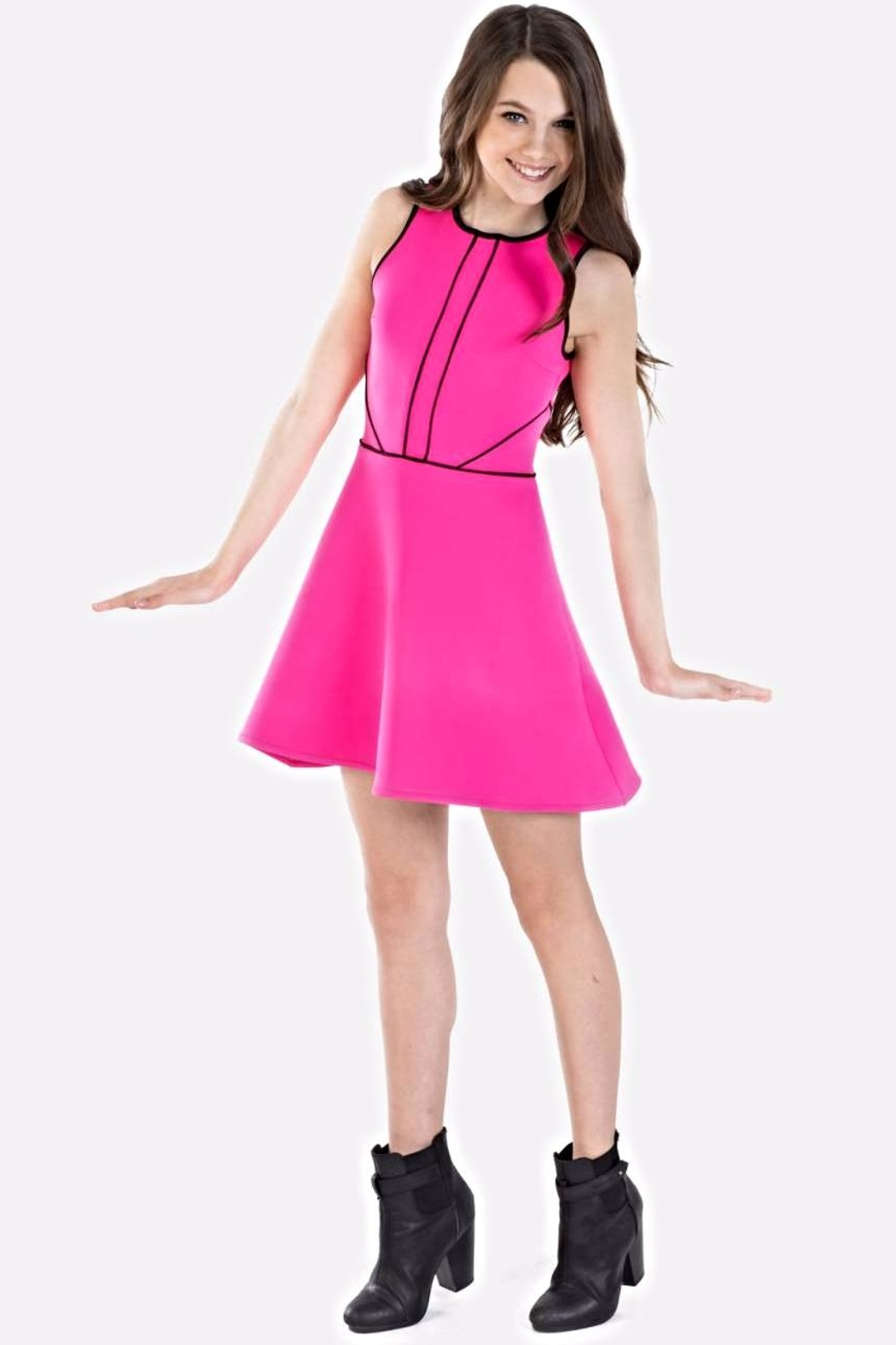 19de39a6fcec Miss Behave girls Kate Hotpink Dress from Texas by Rock2Royal ...