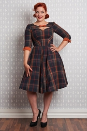 Miss Candyfloss Basil Tartan Dress - Product Mini Image