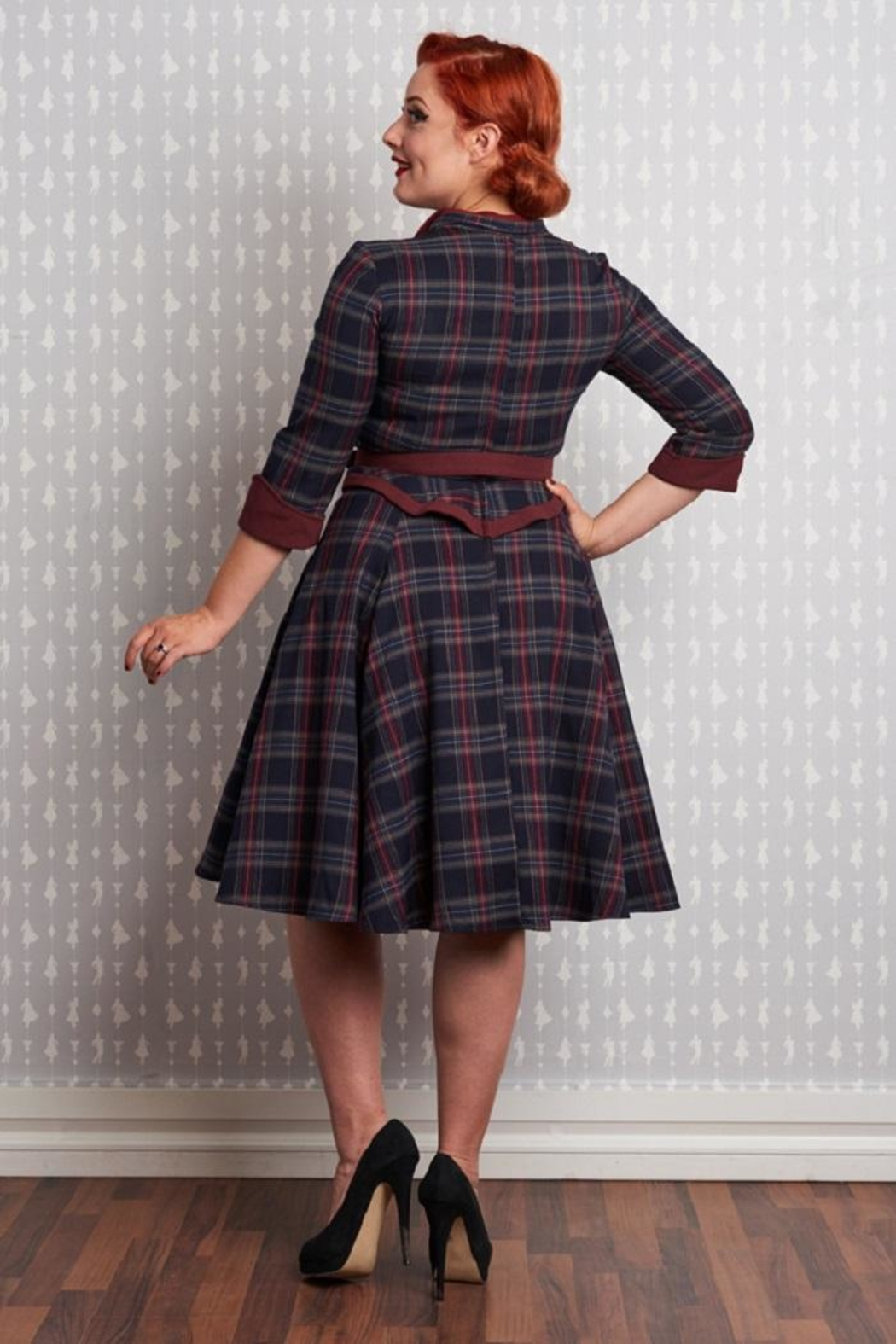 Miss Candyfloss Brianna-Lee Tartan Dress - Side Cropped Image