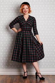 Miss Candyfloss Della Tartan Swing-Dress - Product Mini Image