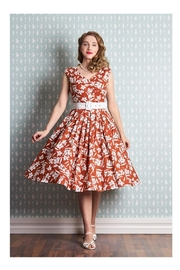 Miss Candyfloss Kortney-Amber Floral Swing-Dress - Product Mini Image