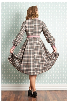 Miss Candyfloss Satine-Silver Tartan Dress - Alternate List Image