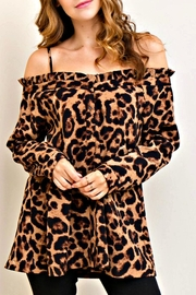 Miss Darlin Leopard Top - Product Mini Image