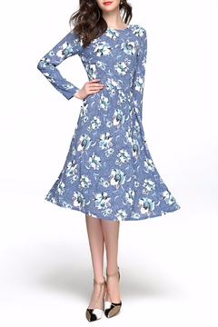 Miss Finch Floral Midi Dress - Product List Image