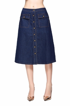 Shoptiques Product: Midi Denim Skirt