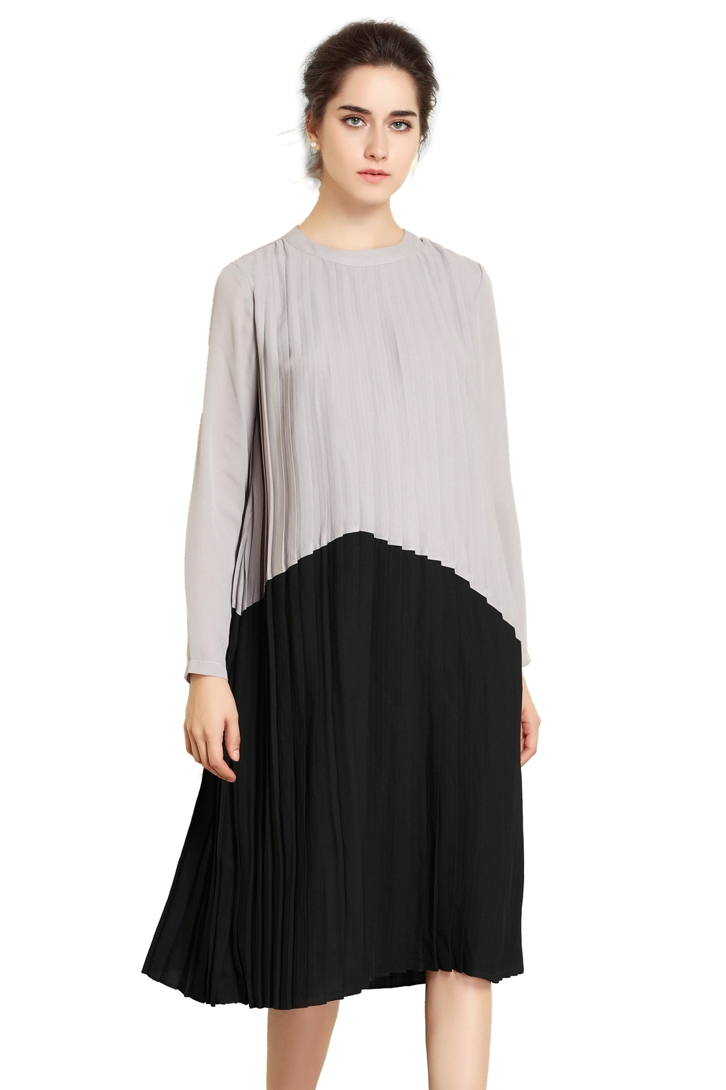 Miss Finch Modest Pleated Dress - Main Image