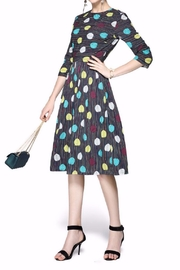 Miss Finch Modest Print Dress - Product Mini Image