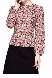 Miss Finch Modest Print Top - Product Mini Image