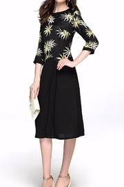 Miss Finch Modest Solid & Print Dress - Product Mini Image