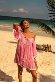 Miss June Pink Beach Dress - Product Mini Image