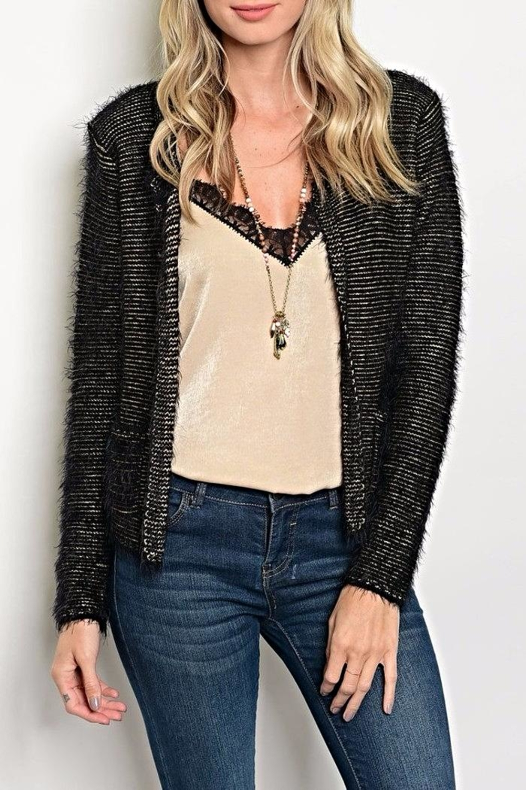 Miss Kelly Short Gold Cardigan from Kansas by twill tradE — Shoptiques