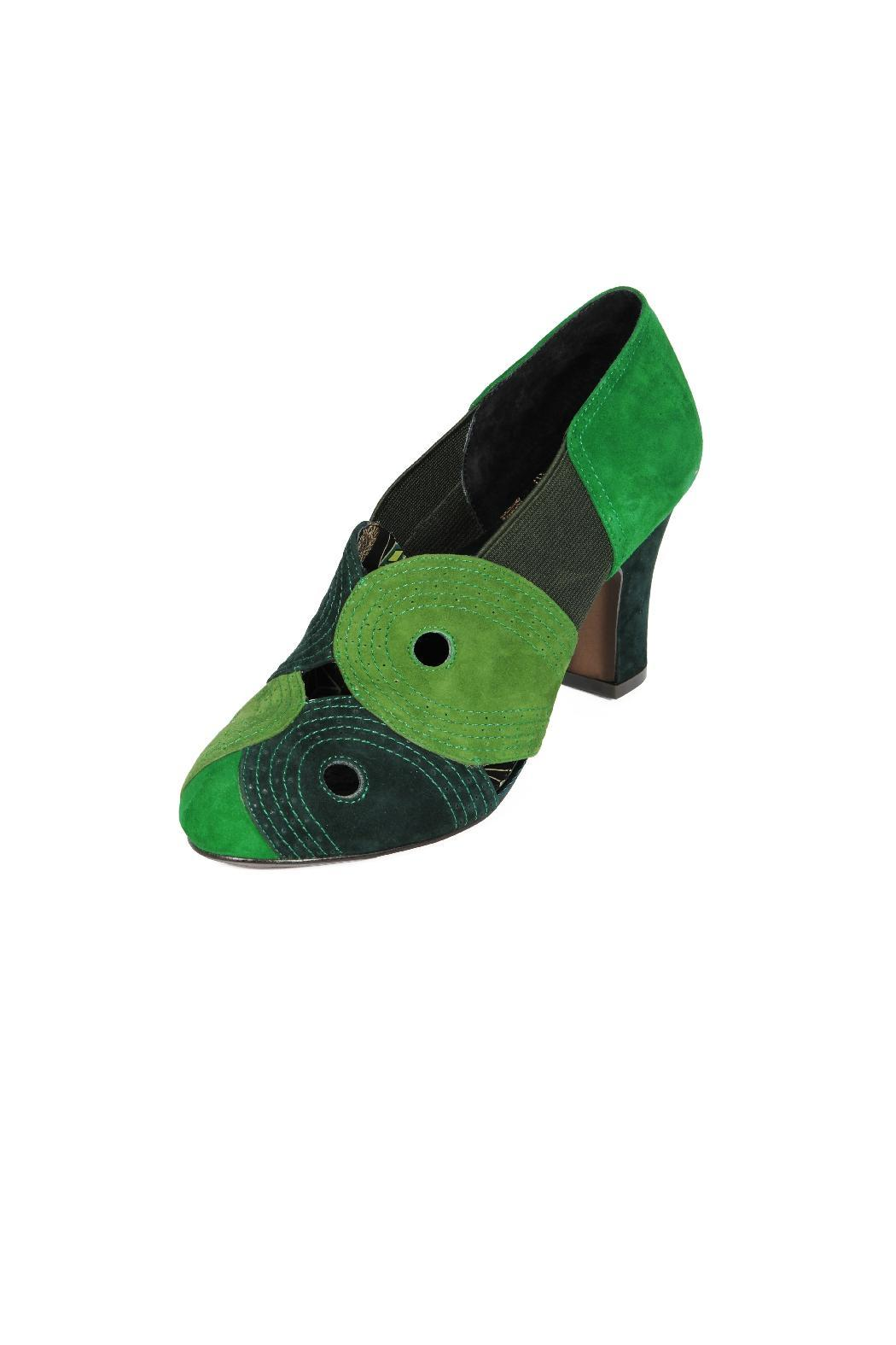 Miss L Fire Green Suede Heel - Main Image