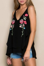 Miss Love Embroidered Double-Layer Tank - Front cropped