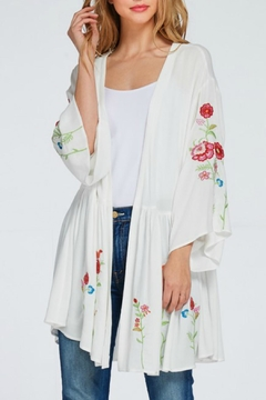 Miss Love Floral Embroidered Kimono - Product List Image