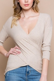 Miss Love Knit Wrap Top - Product Mini Image