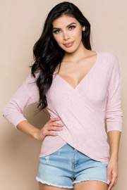 Miss Love Knit Wrap Top - Back cropped
