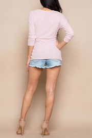 Miss Love Knit Wrap Top - Front full body