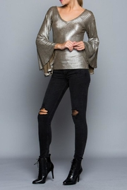 Miss Love Metallic Bell Sleeve - Front cropped