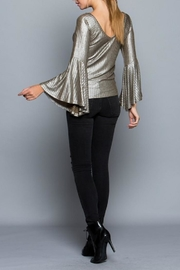 Miss Love Metallic Bell Sleeve - Front full body