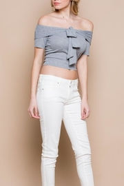 Miss Love Off-Shoulder Bow Top - Front full body
