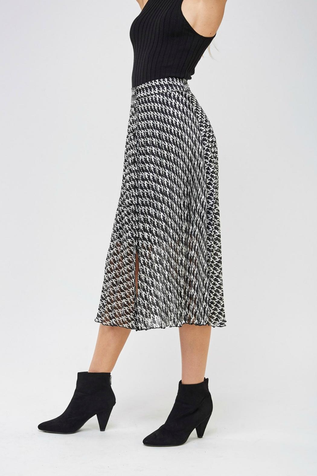 Miss Love Printed High-Waist Skirt - Side Cropped Image