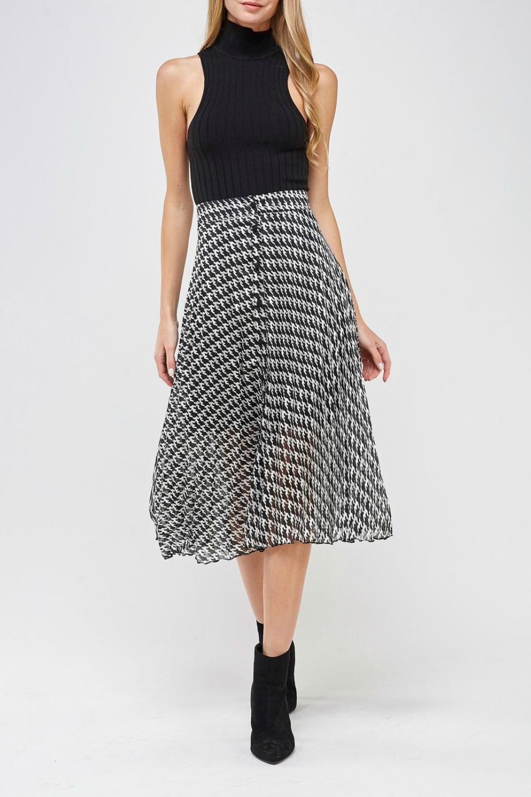 Miss Love Printed High-Waist Skirt - Back Cropped Image