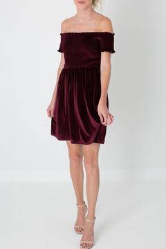 Shoptiques Product: Velvet Off Shoulder Dress