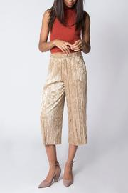 Miss Love Velvet Pleated Pant - Front cropped