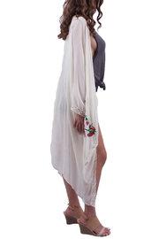 Miss Love White Rose Embroidered Kimono - Front full body