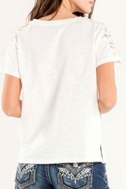 Miss Me Accent Shoulder Tee - Side cropped