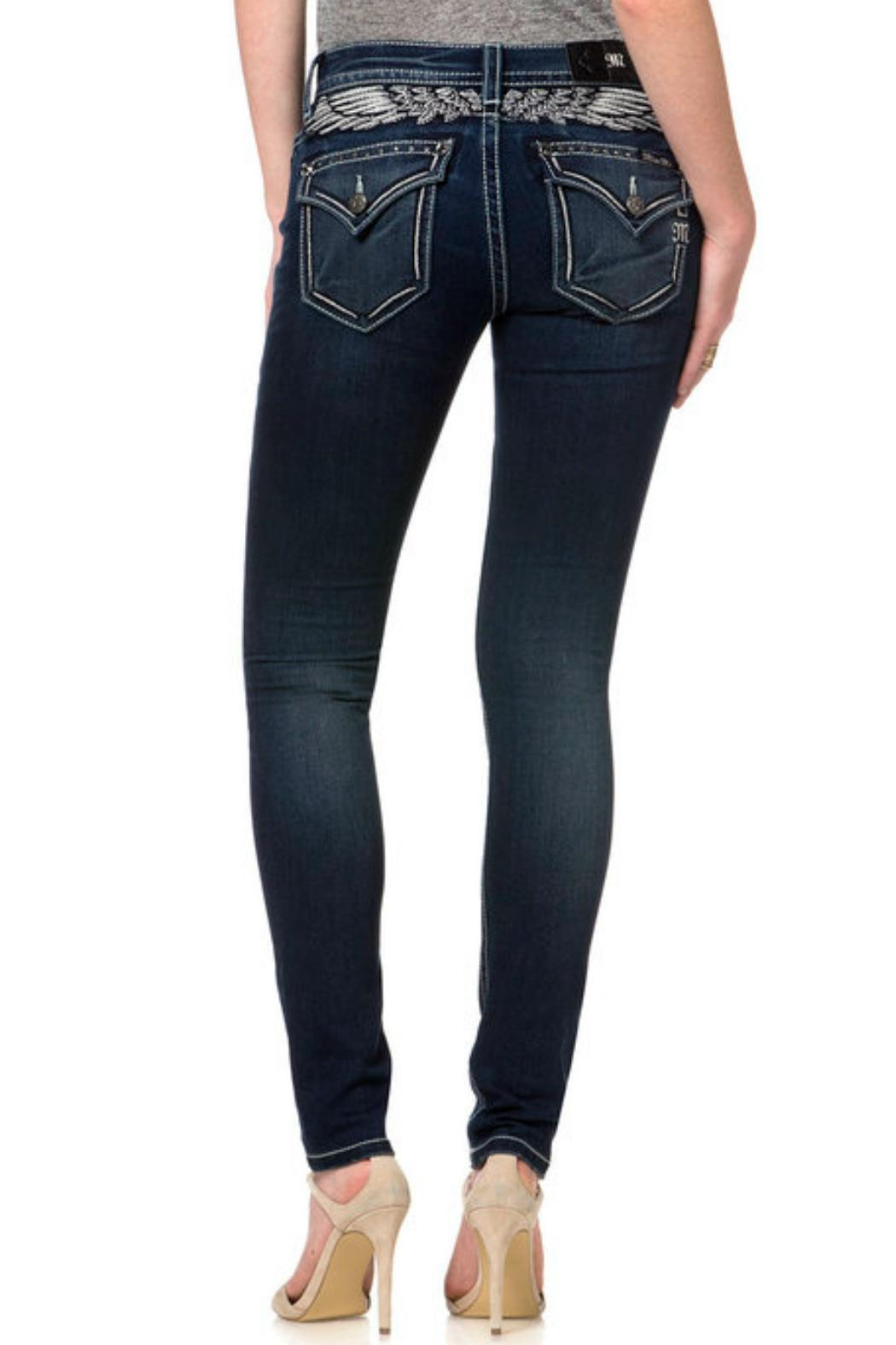 Miss Me Angelic Mid-Rise Skinny - Front Full Image