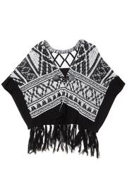 Miss Me Autumn Breeze Poncho - Back cropped
