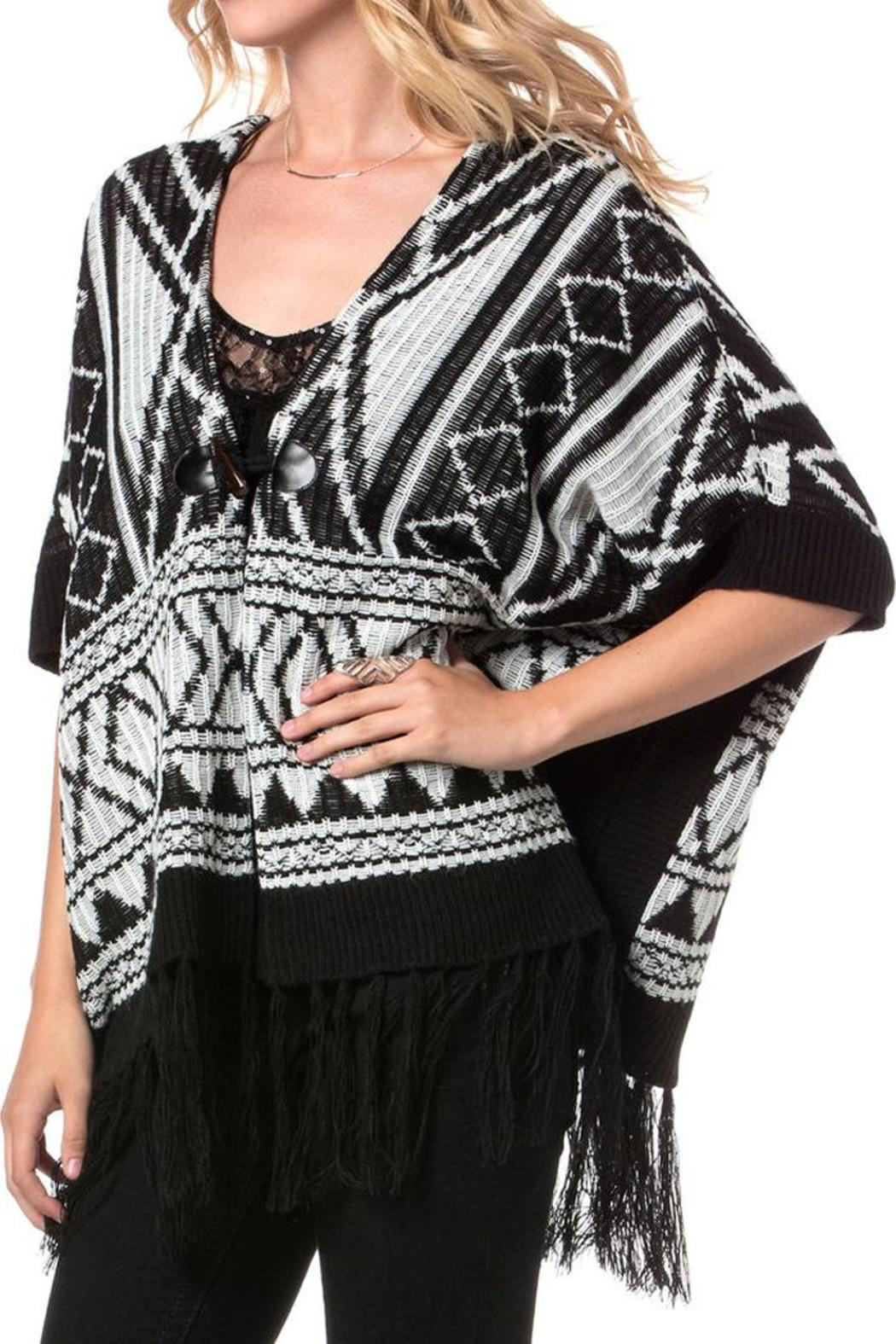 Miss Me Autumn Breeze Poncho - Front Full Image