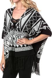 Miss Me Autumn Breeze Poncho - Front full body