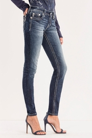 Miss Me Beaded Back-Pocket Skinny - Side cropped