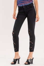 Miss Me Lace Ankle Skinny Jean - Front cropped