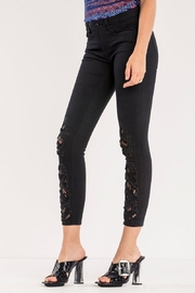 Miss Me Lace Ankle Skinny Jean - Front full body