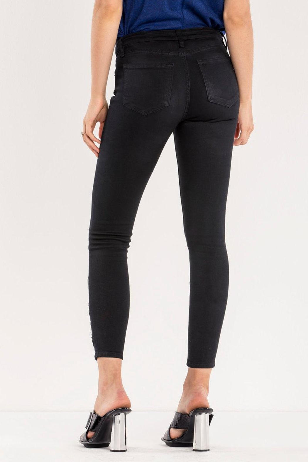 Miss Me Lace Ankle Skinny Jean - Side Cropped Image