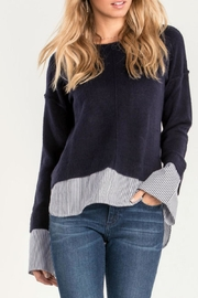 Miss Me Blue Layered Sweater - Product Mini Image
