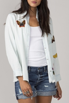 Miss Me Butterfly Denim Shirt - Product List Image