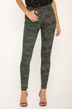 Miss Me Camo Skinny Jeans - Product List Image