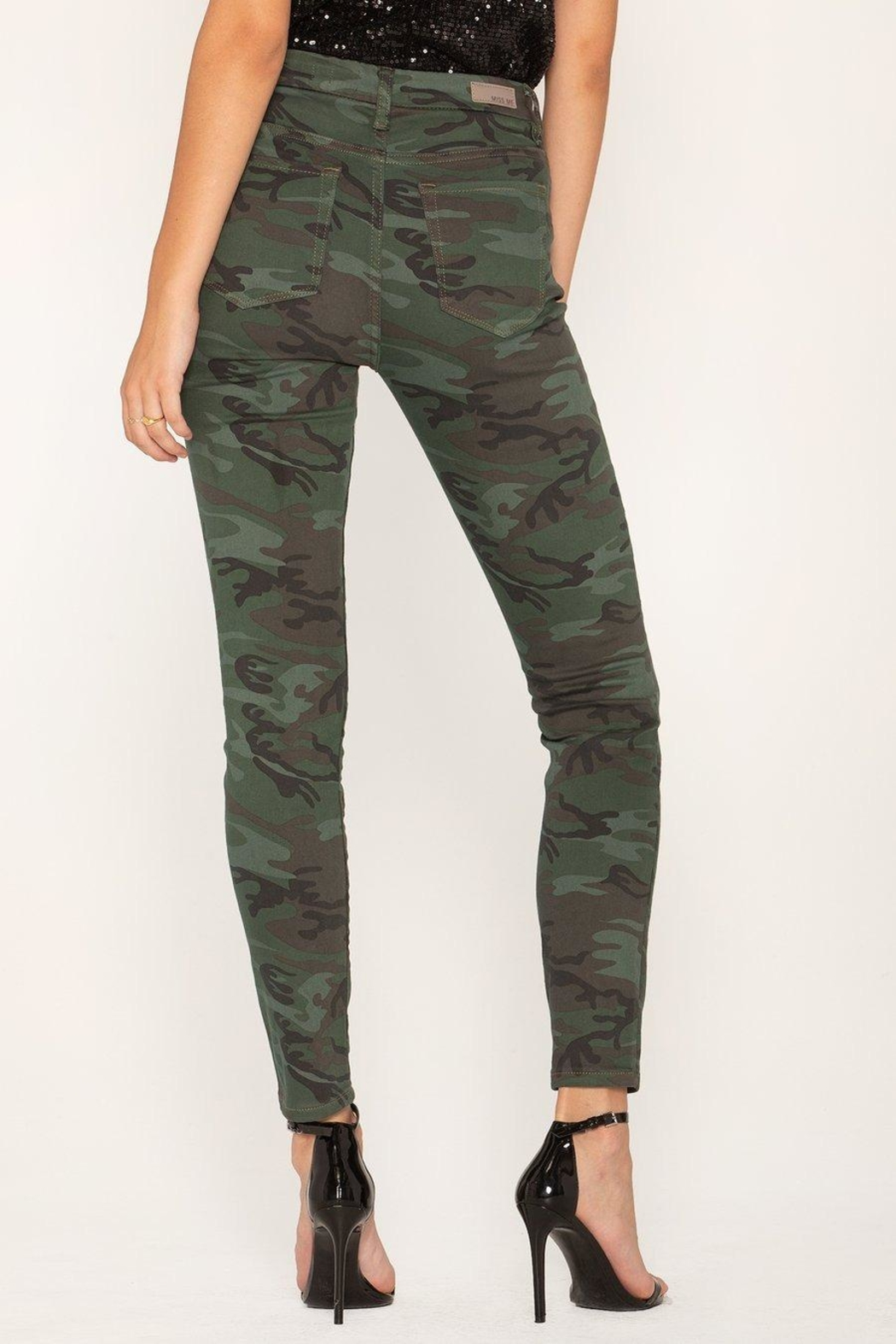 Miss Me Camo Skinny Jeans - Front Full Image