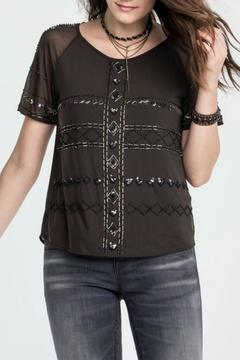Shoptiques Product: Charcoal Beaded Top
