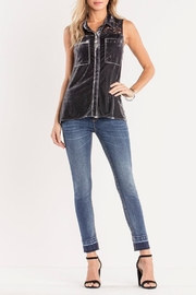 Miss Me Charcoal-Lace & Velvet Detailed-Top - Other