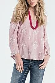 Miss Me Cold Shoulder Top - Product Mini Image
