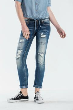 Shoptiques Product: Cuffed Distress Ankle Skinny